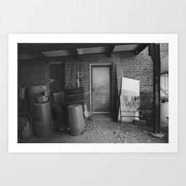The Junk Man's Door Art Print