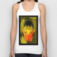 android Tank Tops featuring ANDROID. by capricorn