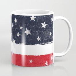 Patriotic Grunge Stars and Stripes Coffee Mug