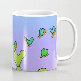 Butterfly Evolving Heart Cactus Coffee Mug