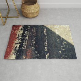 The red wall Rug