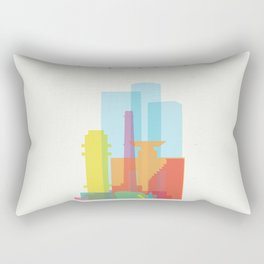 Shapes of Tel Aviv Rectangular Pillow