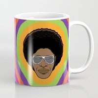 afro Mugs featuring Afro Funky by Roberlan Borges