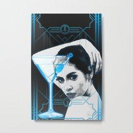 Cyber Martini Girl 2 (design variation) Metal Print