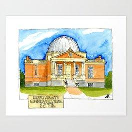 Cincinnati Observatory 1878 Art Print