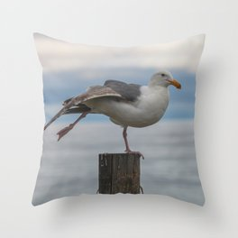 Yoga Gull Throw Pillow