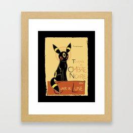 Ombre Noir Framed Art Print