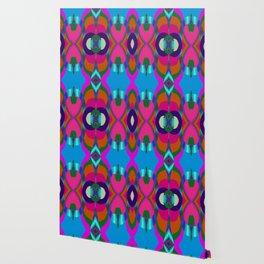 Arrows & Rings on Pink,Blue,Green,Orange,Purple,Aqua Wallpaper
