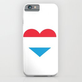 Luxembourg  love flag heart designs  iPhone Case