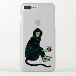Adam Or Eve Clear iPhone Case