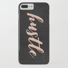 Hustle Rose Gold Text - Typography Quote Slim Case iPhone 7 Plus