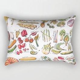 Vegetable Encyclopedia Rectangular Pillow