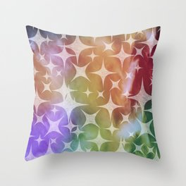 Shimmering White Pucker Lights Throw Pillow