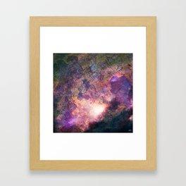 Rebirth | Galaxy Abstract Painting Framed Art Print