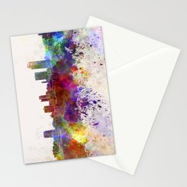 Little Rock skyline in watercolor background Stationery Cards