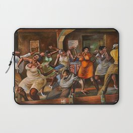 Classical African-American Masterpiece 'Dance Hall' by Ernie Barnes Laptop Sleeve