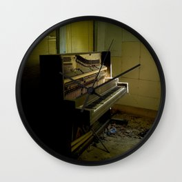 Upright Piano Wall Clock