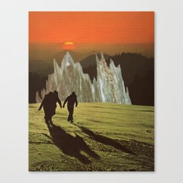 Friends at Sunset Canvas Print