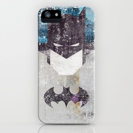 Bat grunge superhero iPhone Case