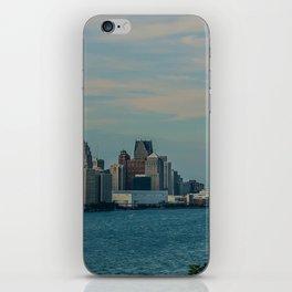 Detroit cityscape iPhone Skin