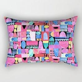 PInk Delaunay Rectangular Pillow