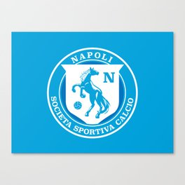 Naples Horse Football badge Canvas Print