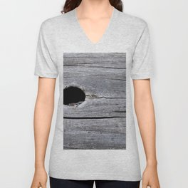 Hole in the tree trunk Unisex V-Neck