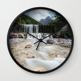 Stunning scenery at Krnica valley, Slovenia Wall Clock