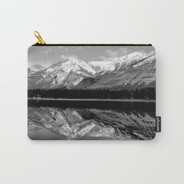 Black and White Mountains Carry-All Pouch