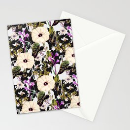 Flowery abstract garden Stationery Cards