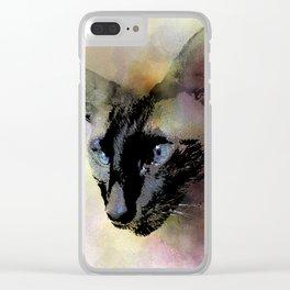 Cat 620 Siamese Clear iPhone Case