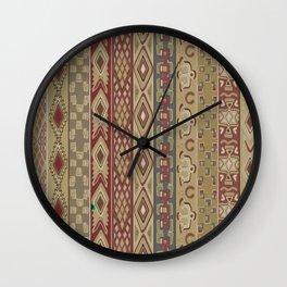 Navajo Geometric Pattern 1 Wall Clock