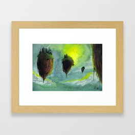 Floating Citadels Framed Art Print