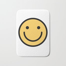 Smiley Face   Cute Simple Smiling Happy Face Bath Mat