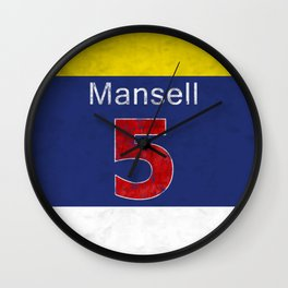 Mansell Red 5 Wall Clock