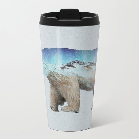 The Arctic Polar Bear Metal Travel Mug