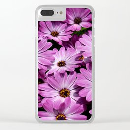 Purple daisies Clear iPhone Case