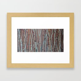 Brown and Silver Framed Art Print