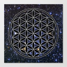 Flower of life in the space Canvas Print