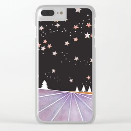 Night landscape Clear iPhone Case