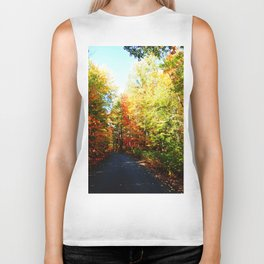 Into the Fall Forest Biker Tank