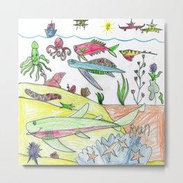 Sky & Sea Metal Print