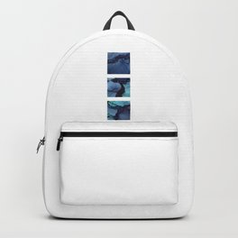 Blue Ink Triptych Backpack
