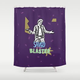 Han Solo - Saved by the Blaster Shower Curtain