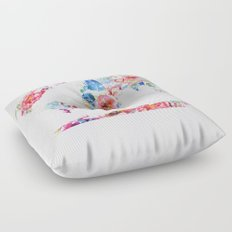 Floral World - Pink Stripe Floor Pillow
