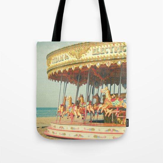 Seaside Carousel Tote Bag