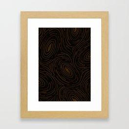 Star Spatter Swirl - Gold Framed Art Print