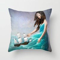 destiny Throw Pillows featuring Destiny by Christian Schloe