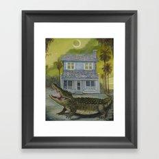 The Barker House Framed Art Print