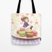 hetalia Tote Bags featuring Marimacarons by gohe1090
